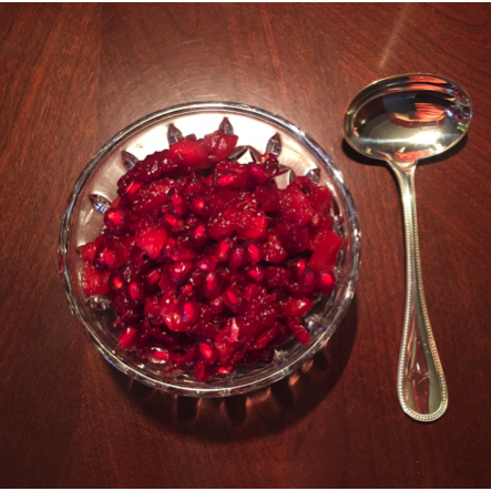 cranberry apple pomergranate relish